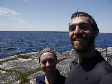 On the shores of Meldrum Bay, the Westernmost point of the Island