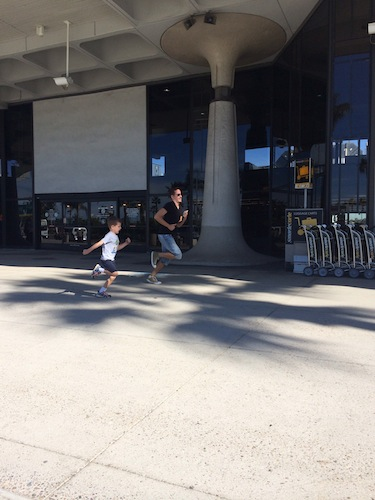 running at the airport