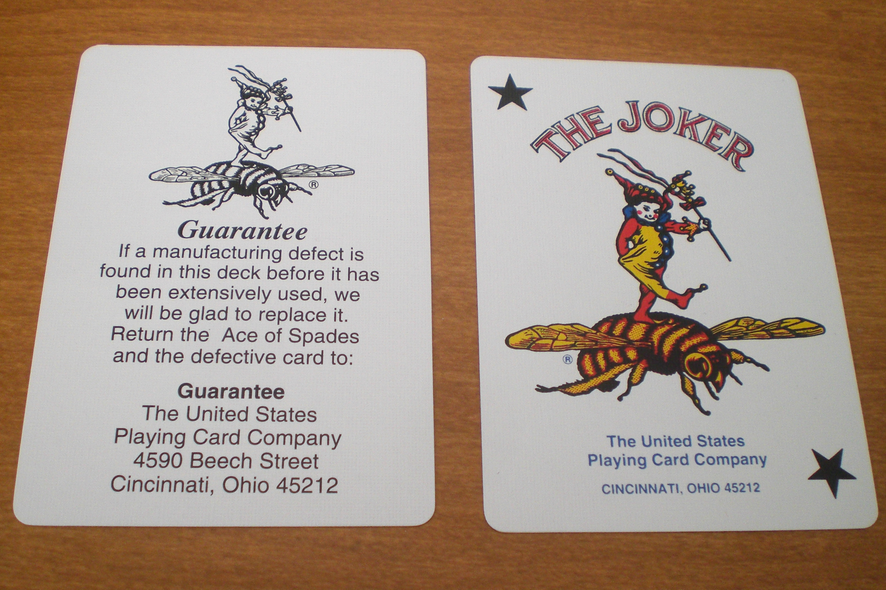 Bee : Joker and Guarantee