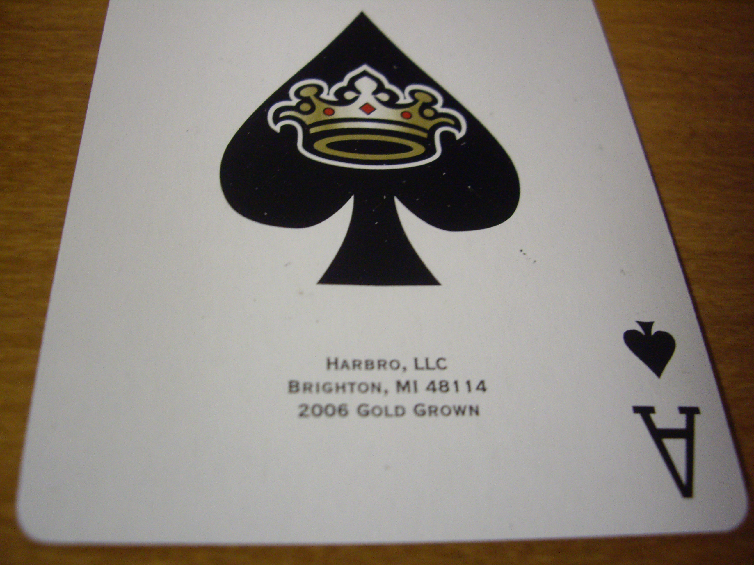 Gold Crown : The fine print/ Ace of Spades