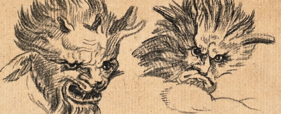 Two Demonic Physiognomies, Expressive of Malignity
