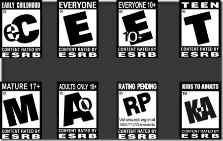 ESRB Ratings (source: psychobuttons.com)