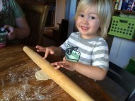 They loved rolling out dough.
