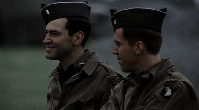 Dick Winters and Lewis Nixon in Band of Brothers