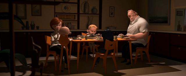 The Incredibles dinner scene
