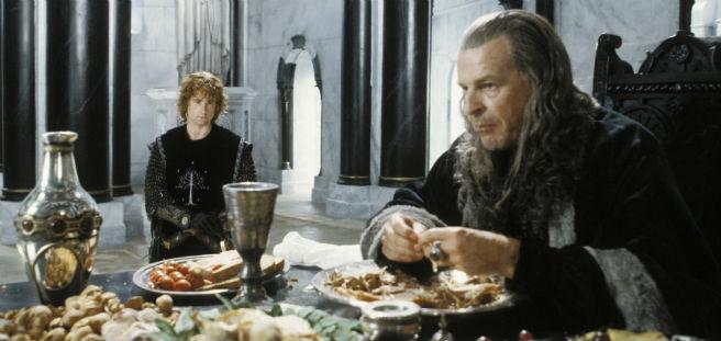 The Return of the King Denethor eating scene