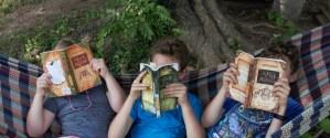 Children reading The Wilderking Trilogy