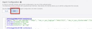 Agent Configuration Edit