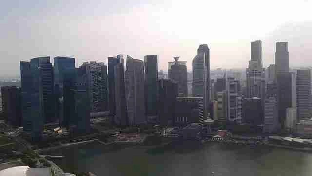 Marina Bay Sands View From Level 57