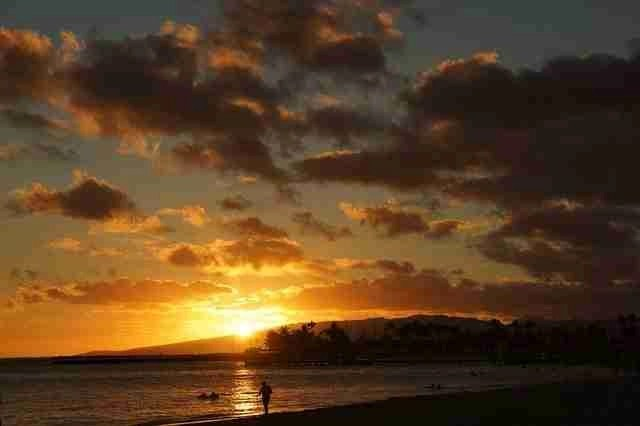 Waikiki Beach in the USA