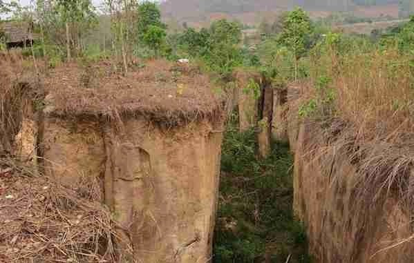 Land Split in Pai