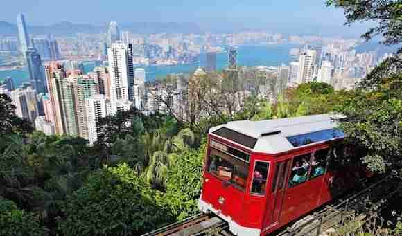 Peak Tram to Victoria Peak Hong Kong