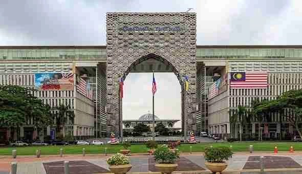 The federal administrative center of Malaysia, Putrajaya