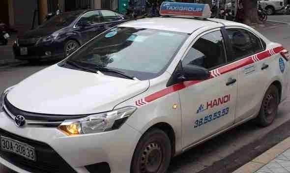 Taxi in Hanoi Vietnam