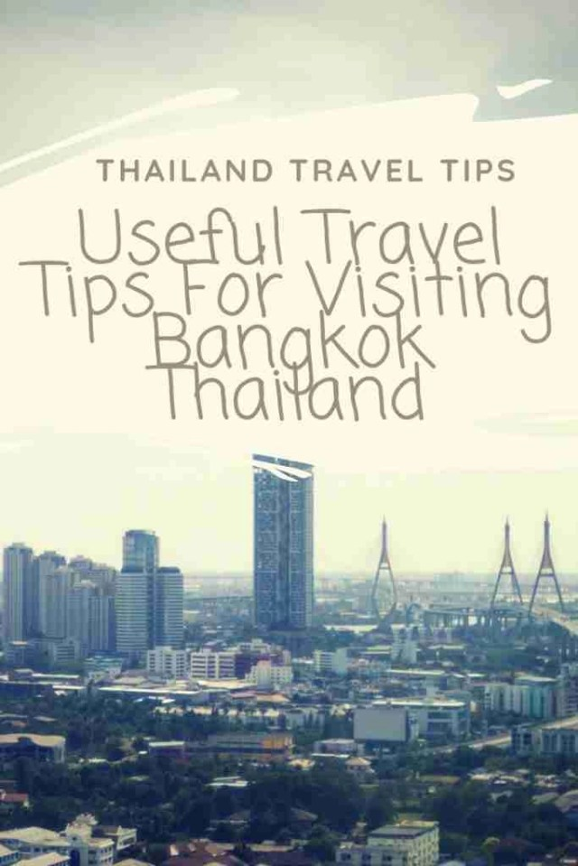 Thailand Travel Tips Useful Travel Tips For Visiting Bangkok Thailand