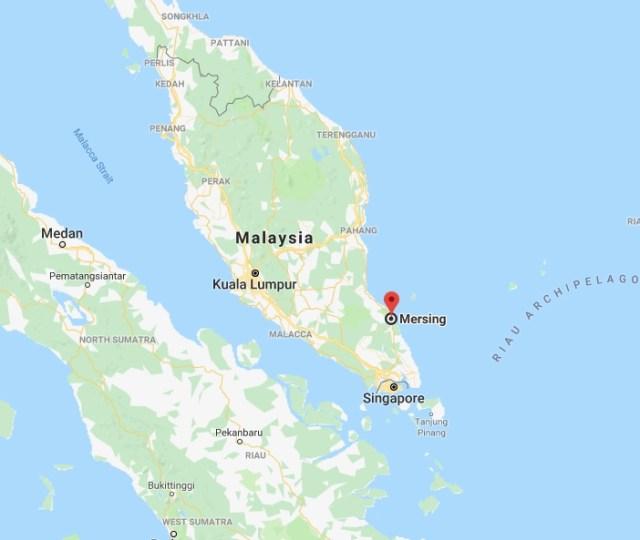Mersing, Johor, Malaysia Map Location