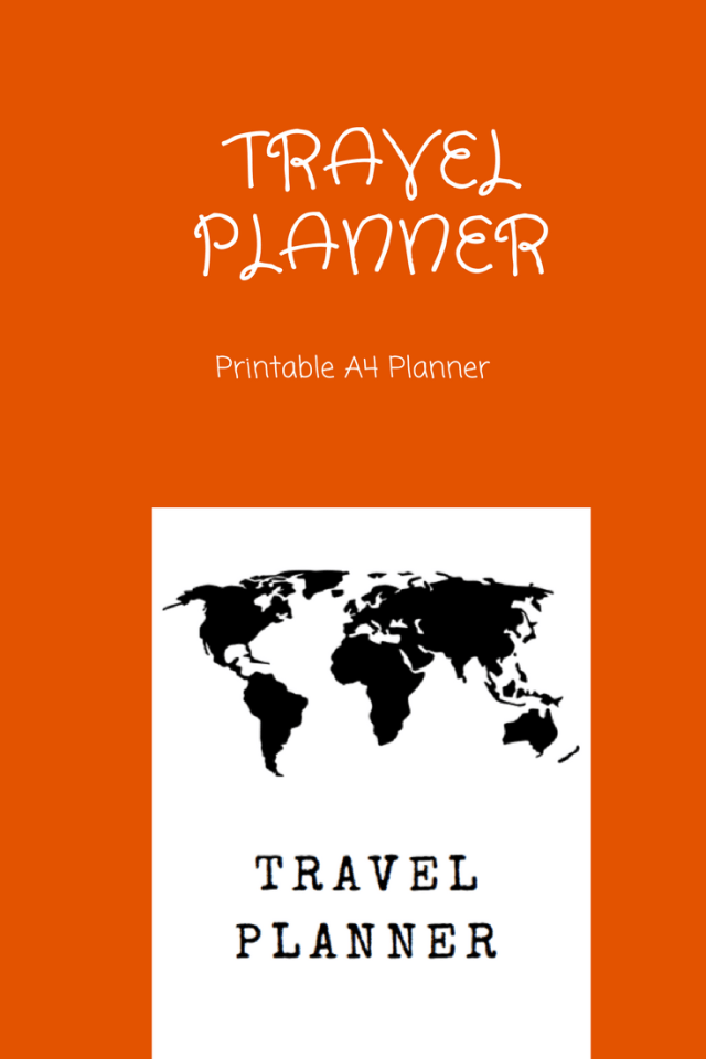 Printable Travel Planner | Printable Vacation Planner | Trip Planner| Travel Itinerary Planner | Family Holiday Planner