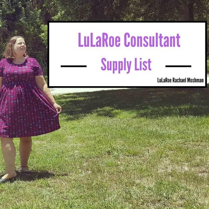 LuLaRoe consultant start up supply list