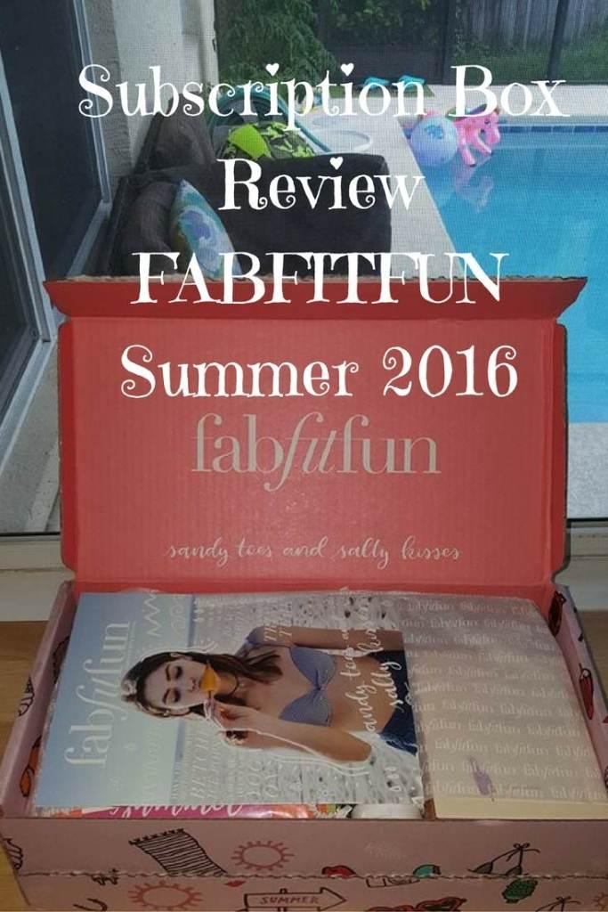 Summer 2016 FabFitFun Review