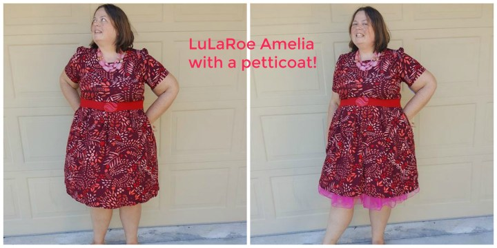 LuLaRoe Amelia with a petticoat