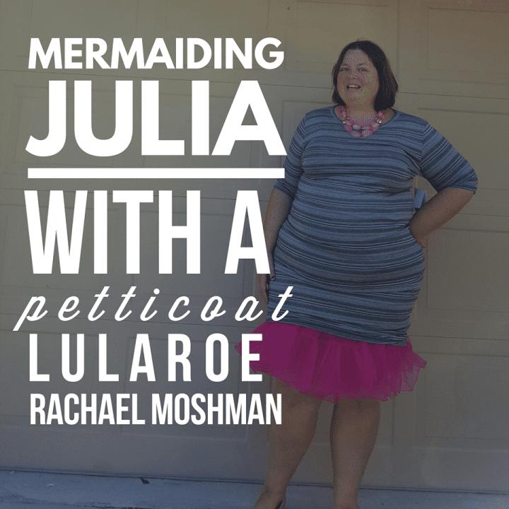 LuLaRoe Julia dress with a petticoat