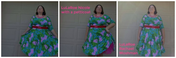 LuLaRoe Nicole dress with a petticoat