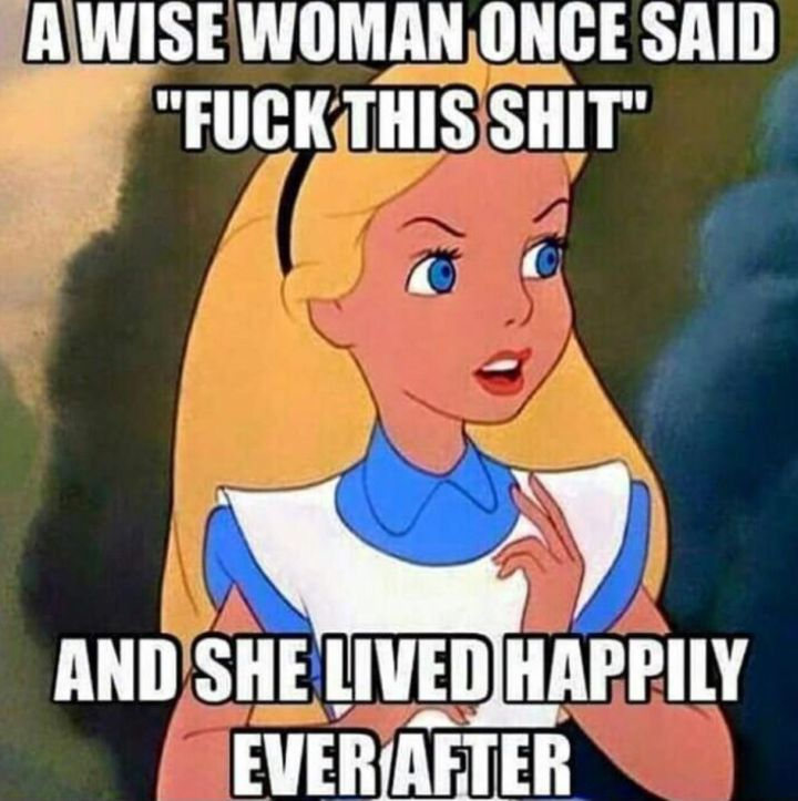 Alice is out of fucks. LIfe after divorce.