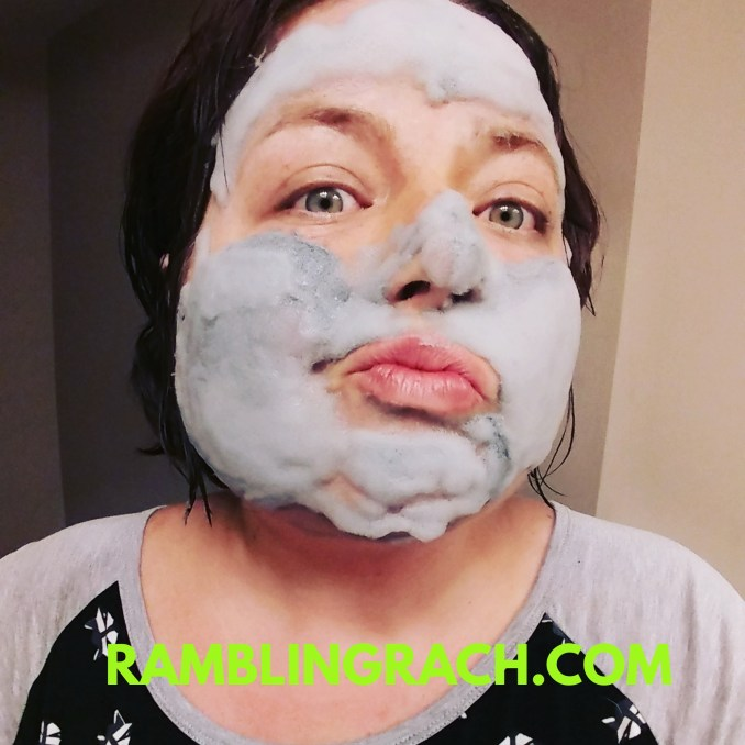 Rambling Rach tries foaming bubble mask.