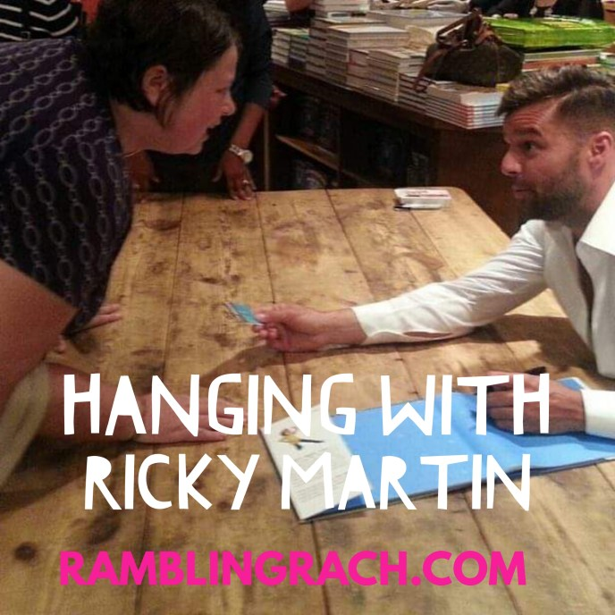 Rambling Rach hanging with Ricky Martin