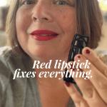 Red lipstick is magic