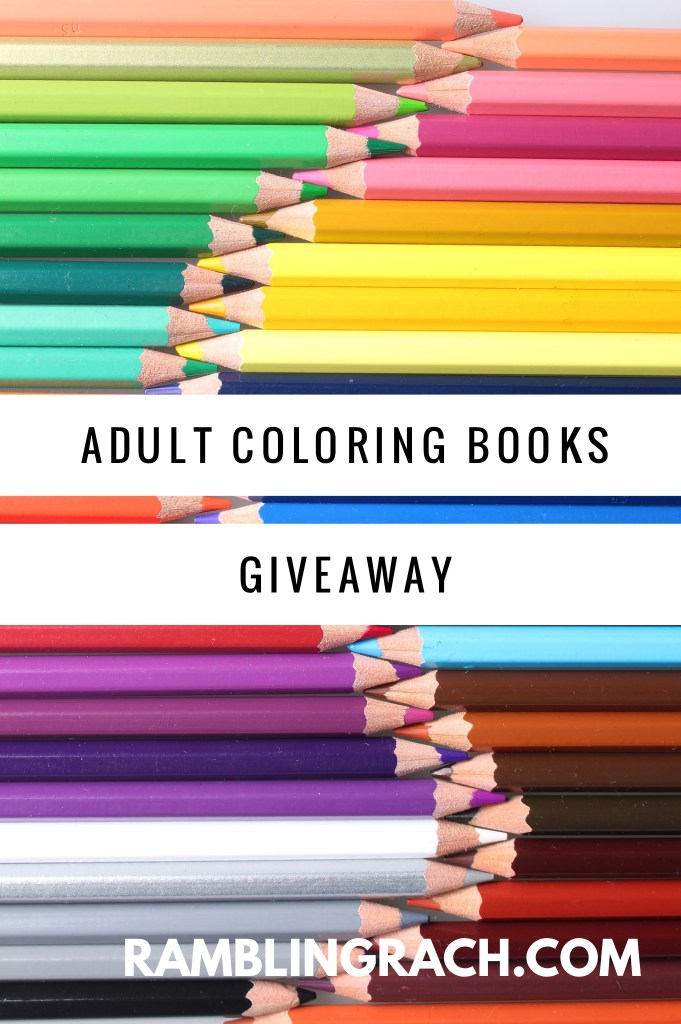 Adult coloring books giveaway