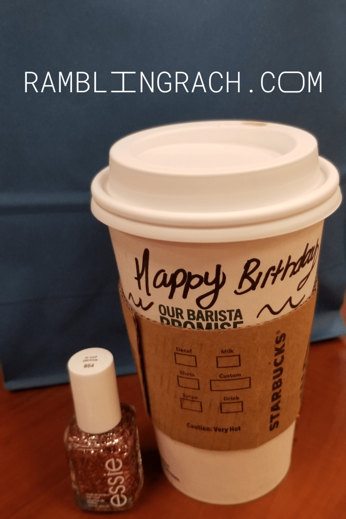 Birthday coffee at Starbucks