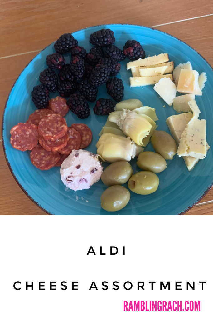 Cheese plate made with Aldi finds