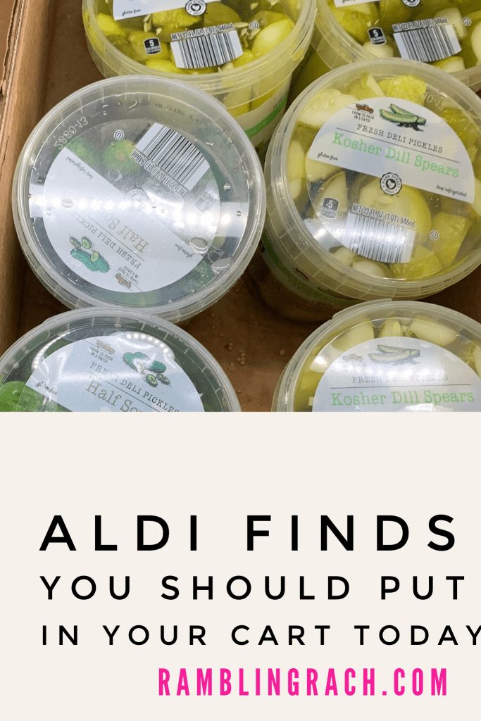 Aldi pickles are a must!