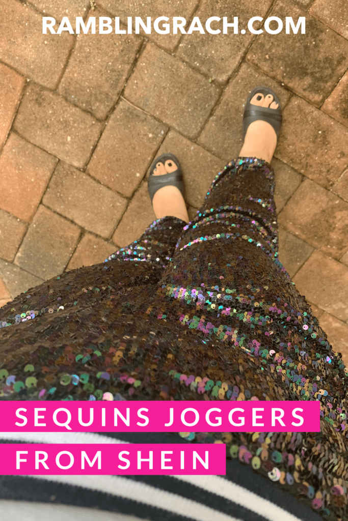 Plus size sequins pants from Shein