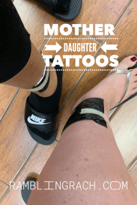 My daughter and I got matching mother and daughter tattoos. They were the first for both of us. She was 18 and I was 41. They hold significant meaning.