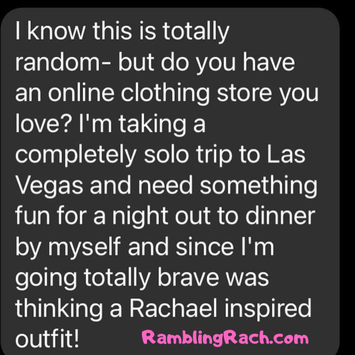 Rambling Rach blog reader asks for plus size fashion recommendations for Las Vegas trip because she's been inspired by healing and bravery.