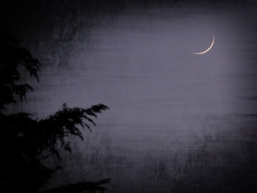 Photo of waxing crescent moon