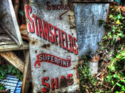 Photo of enamel advertising sign