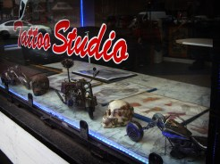 Photo of tattoo parlour window