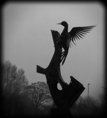 Photo of woodpecker sculpture