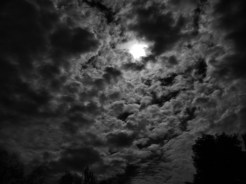Photo of moonlit clouds