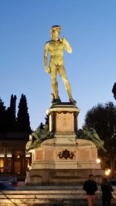 Statue of David at the Piazzale Michelangelo (not the real one)