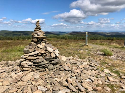 The cairn atop the summit of the Minch Moor