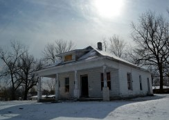 cinder block house