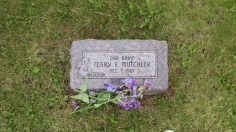 My mother's youngest brother who died at birth, strangled by his umbilical cord. My grandpa dug the grave himself.
