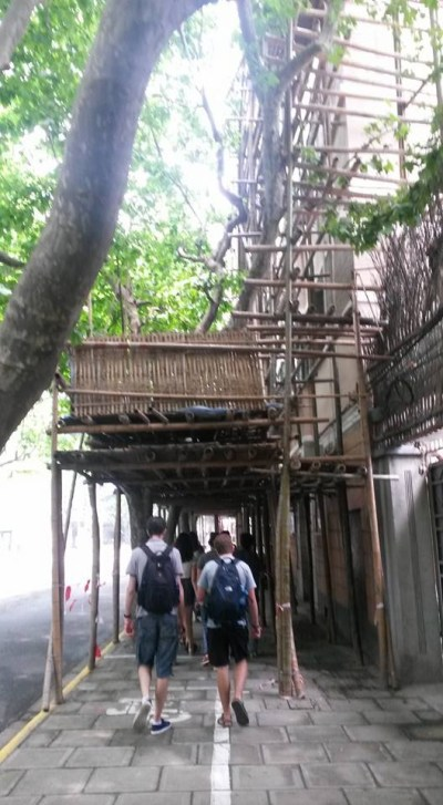 Scaffolding made of bamboo!