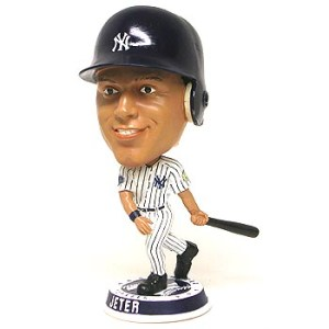 Bobblehead Derek Jeter! Classic. I left mine under the seat at Yankees Stadium in 1998.