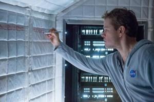 Matt Damon learning how to make mah jong tiles out of insulation.