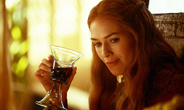 Cersei will drink wine while Tommen fries. She's sorta an alcoholic. But who am I to judge.